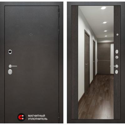 Стальная дверь Лабиринт SILVER Максимум с зеркалом (Венге)