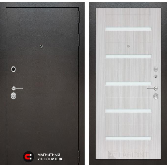Стальная дверь Лабиринт SILVER 01 (Сандал белый)