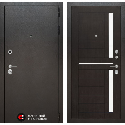 Стальная дверь Лабиринт SILVER 02 (Венге)