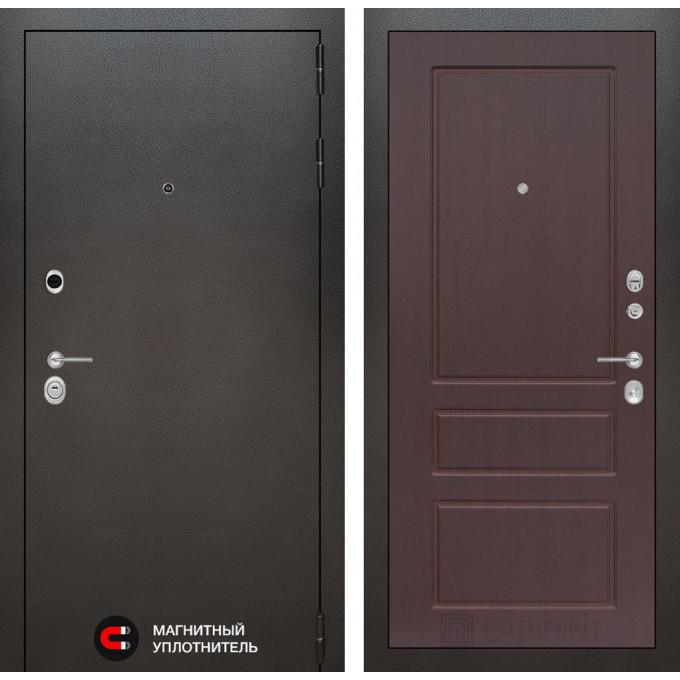 Стальная дверь Лабиринт SILVER 03 (Орех премиум)