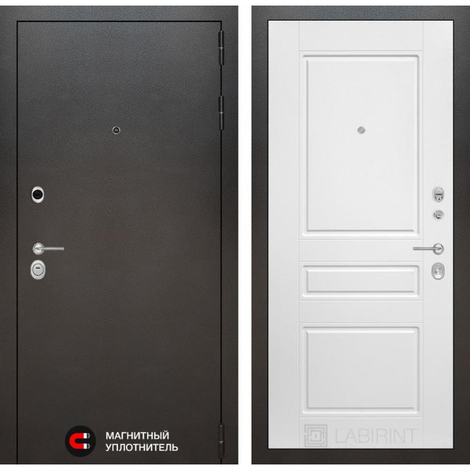 Стальная дверь Лабиринт SILVER 03 (Белый софт)