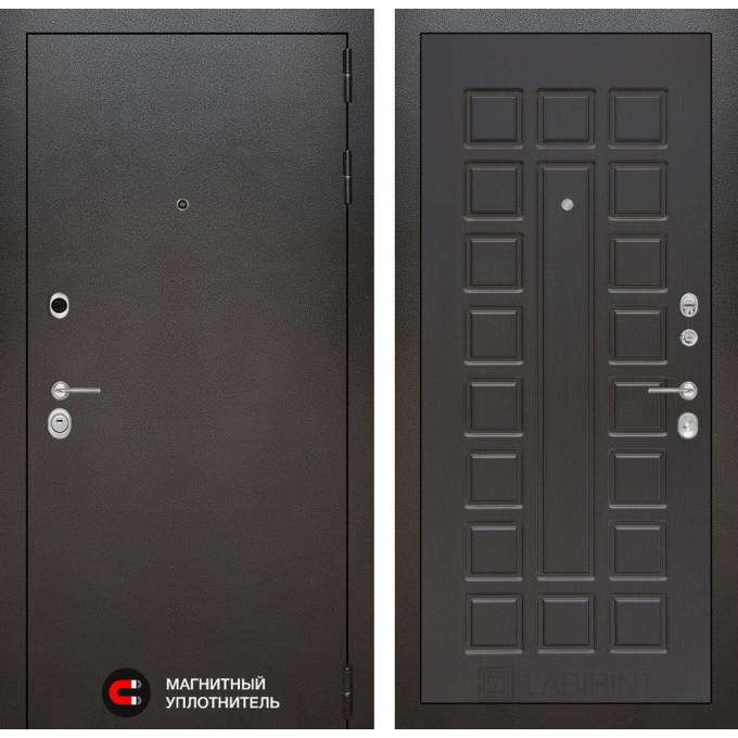 Стальная дверь Лабиринт SILVER 04 (Венге)