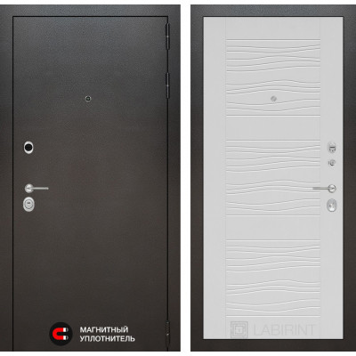 Стальная дверь Лабиринт SILVER 06 (Белое дерево)