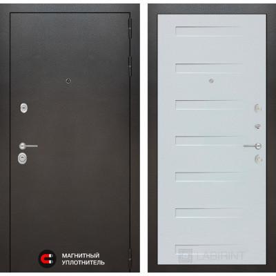 Стальная дверь Лабиринт SILVER 14 (Дуб кантри белый)