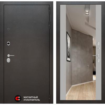 Стальная дверь Лабиринт SILVER Максимум с зеркалом (Грей софт)