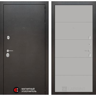 Стальная дверь Лабиринт SILVER 13 (Грей софт)