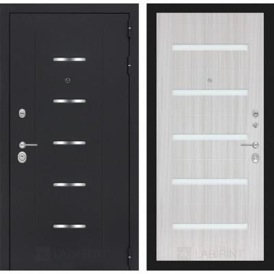 Стальная дверь Лабиринт ALFA 01 (Сандал белый)