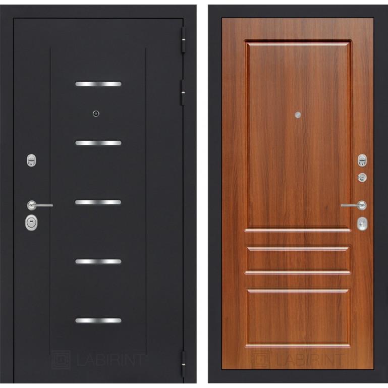 Стальная дверь Лабиринт ALFA 03 (Орех бренди)