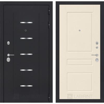 Стальная дверь Лабиринт ALFA 03 (Крем софт)