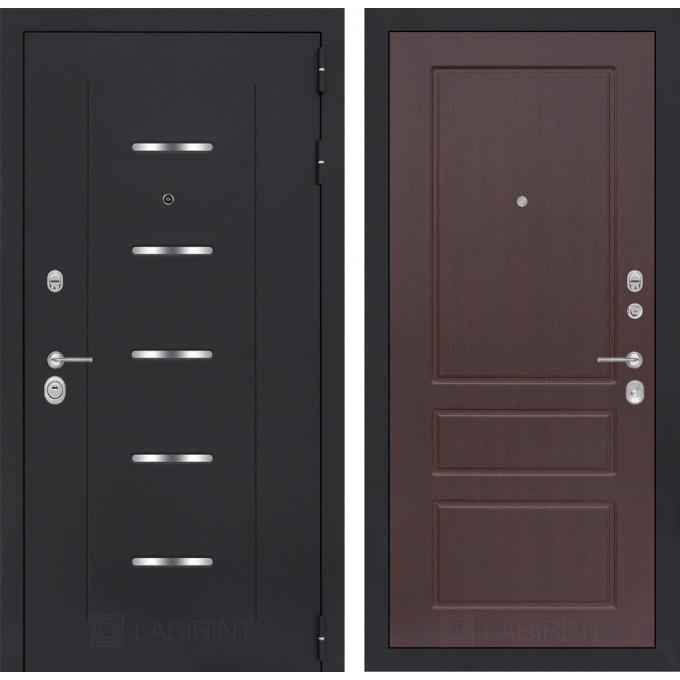 Стальная дверь Лабиринт ALFA 03 (Орех премиум)