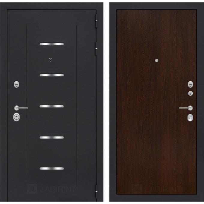 Стальная дверь Лабиринт ALFA 05 (Венге)