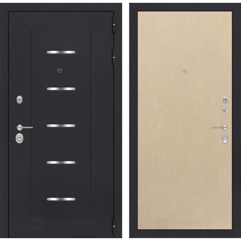 Стальная дверь Лабиринт ALFA 05 (Беленый дуб)