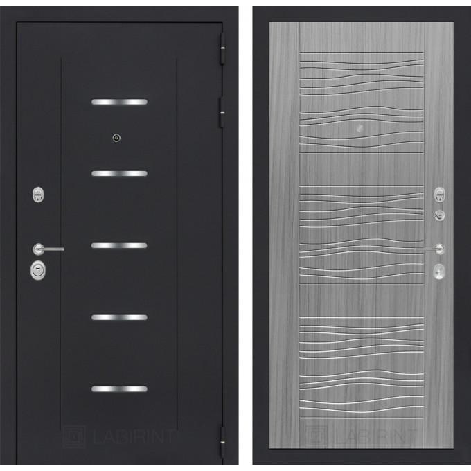 Стальная дверь Лабиринт ALFA 06 (Сандал серый)