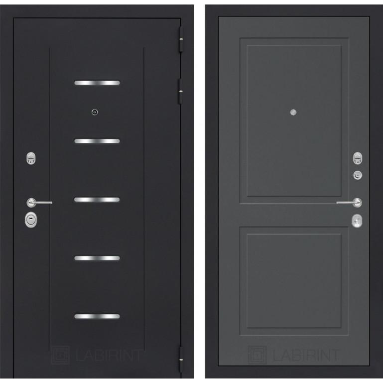 Стальная дверь Лабиринт ALFA 11 (Графит софт)