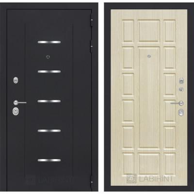 Стальная дверь Лабиринт ALFA 12 (Беленый дуб)