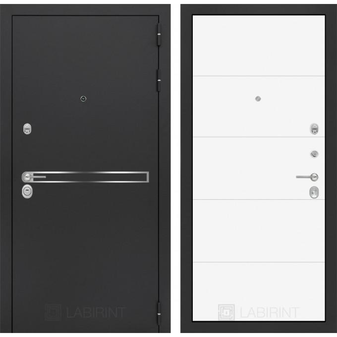 Стальная дверь Лабиринт LINE 13 (Белый софт)