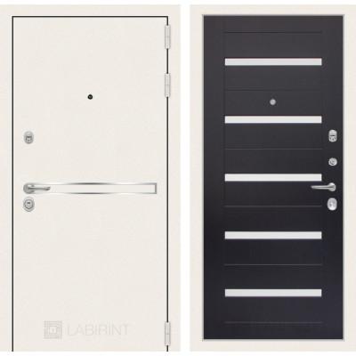 Стальная дверь Лабиринт LINE WHITE 01 (Венге)