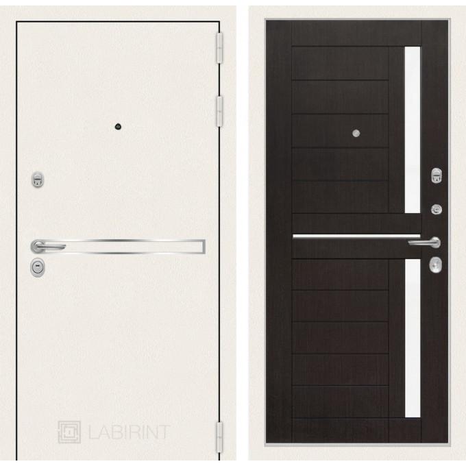 Стальная дверь Лабиринт LINE WHITE 02 (Венге)