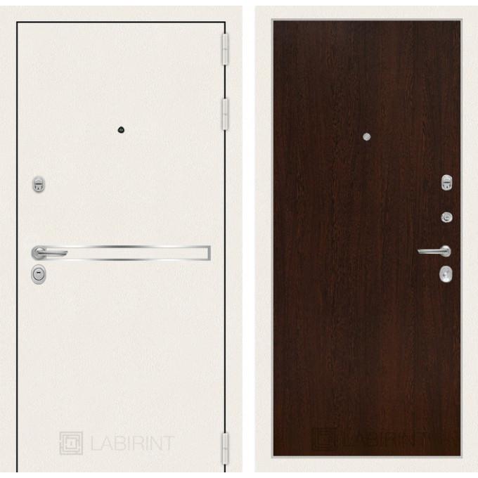 Стальная дверь Лабиринт LINE WHITE 05 (Венге)