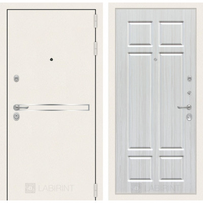 Стальная дверь Лабиринт LINE WHITE 08 (Кристалл вуд)