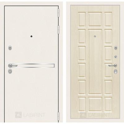 Стальная дверь Лабиринт LINE WHITE 12 (Беленый дуб)