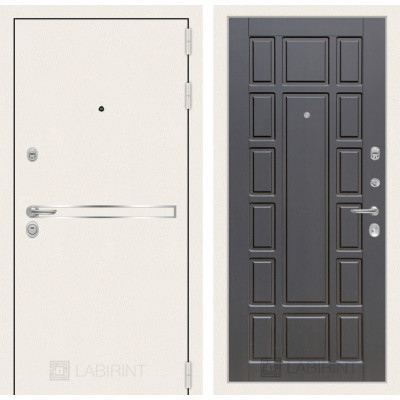 Стальная дверь Лабиринт LINE WHITE 12 (Венге)