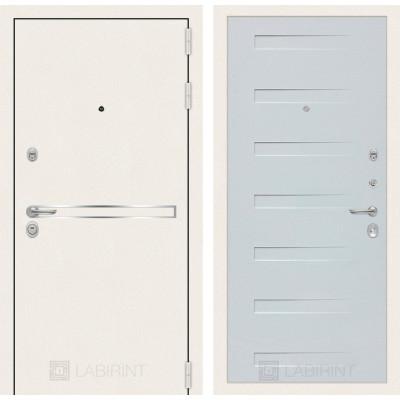 Стальная дверь Лабиринт LINE WHITE 14 (Дуб кантри белый)