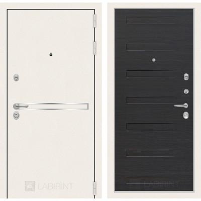Стальная дверь Лабиринт LINE WHITE 14 (Эковенге)