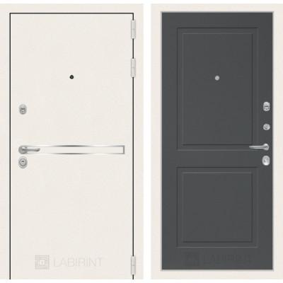 Стальная дверь Лабиринт LINE WHITE 11 (Графит софт)