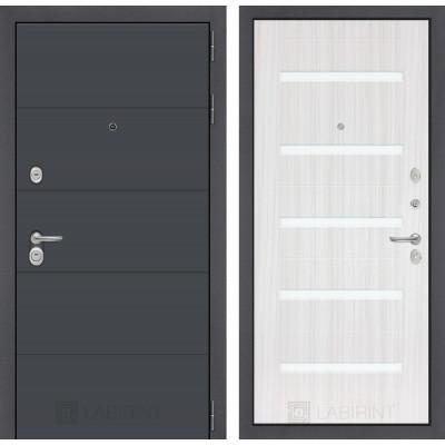 Стальная дверь Лабиринт ART 01 (Сандал белый)