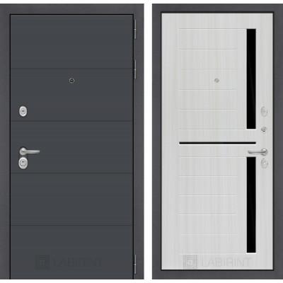 Стальная дверь Лабиринт ART 02 (Сандал белый)