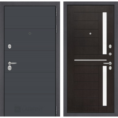 Стальная дверь Лабиринт ART 02 (Венге)