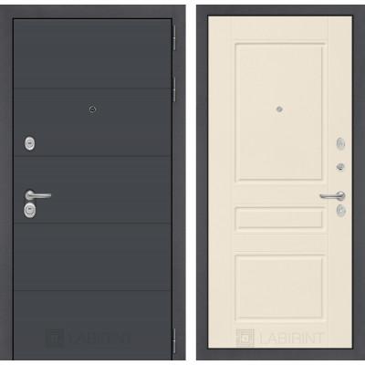 Стальная дверь Лабиринт ART 03 (Крем софт)