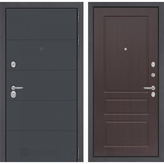 Стальная дверь Лабиринт ART 03 (Орех премиум)
