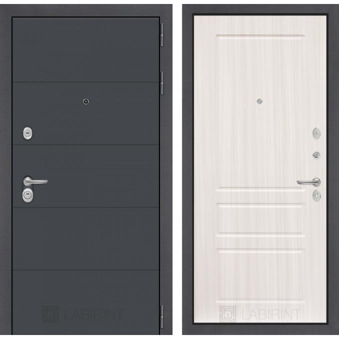 Стальная дверь Лабиринт ART 03 (Сандал белый)