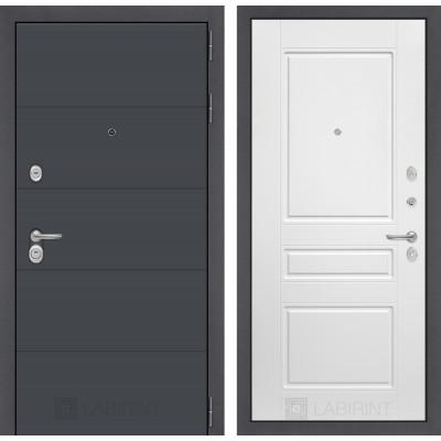 Стальная дверь Лабиринт ART 03 (Белый софт)