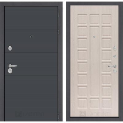 Стальная дверь Лабиринт ART 04 (Беленый дуб)