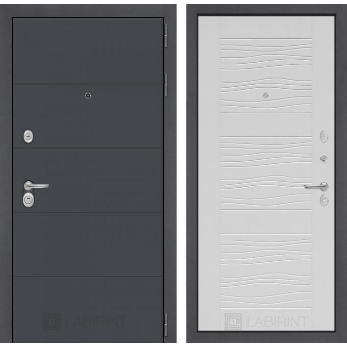 Стальная дверь Лабиринт ART 06 (Белое дерево)