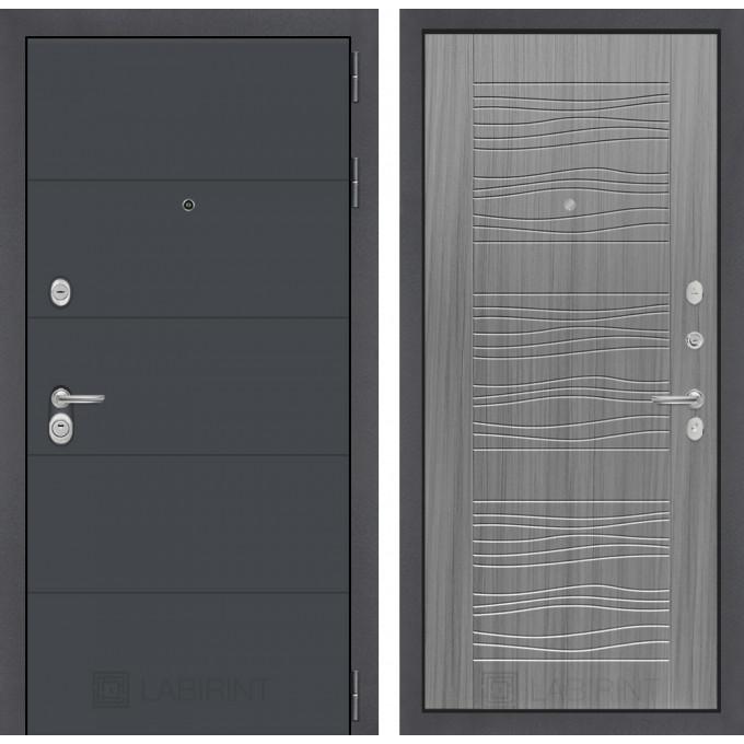 Стальная дверь Лабиринт ART 06 (Сандал серый)