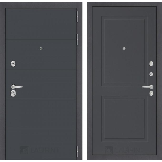 Стальная дверь Лабиринт ART 11 (Графит софт)
