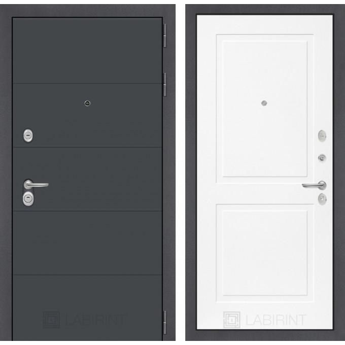Стальная дверь Лабиринт ART 11 (Белый софт)