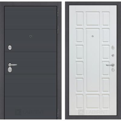 Стальная дверь Лабиринт ART 12 (Белое дерево)