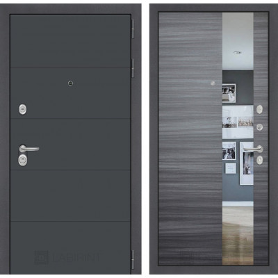Стальная дверь Лабиринт ART с зеркалом (Сандал серый)