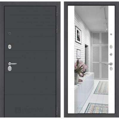 Стальная дверь Лабиринт ART с зеркалом (Белый софт)