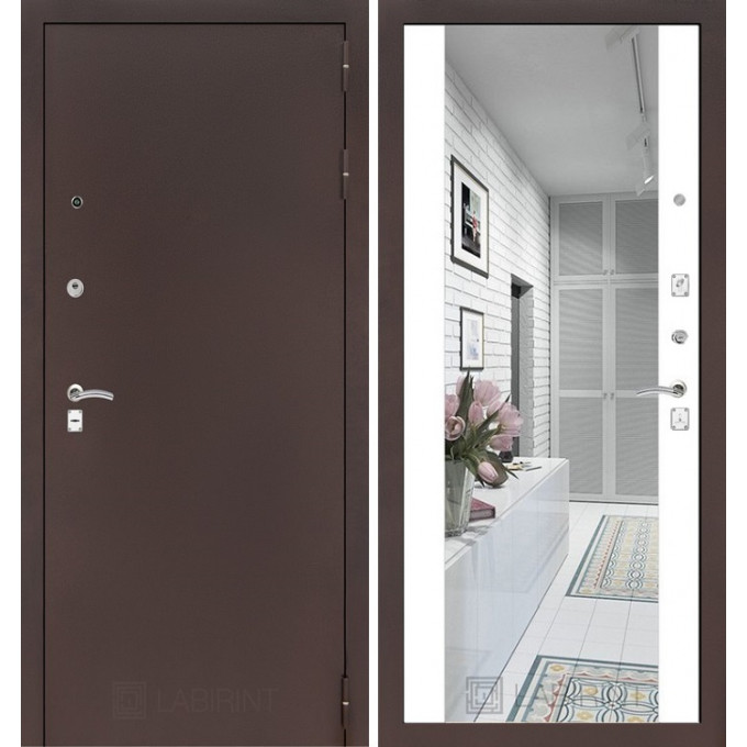 Дверь Лабиринт Classic Максимум (Медный антик / Белый софт)
