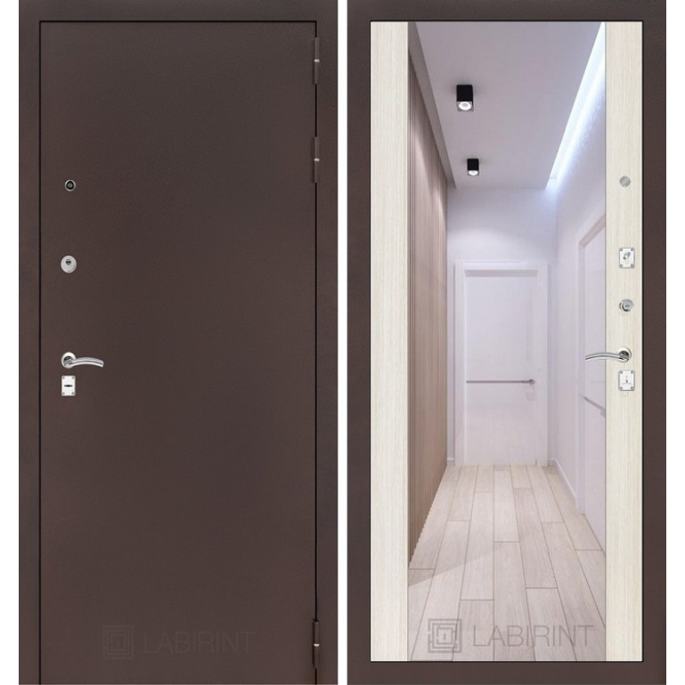 Дверь Лабиринт Classic Максимум (Медный антик / Сандал белый)
