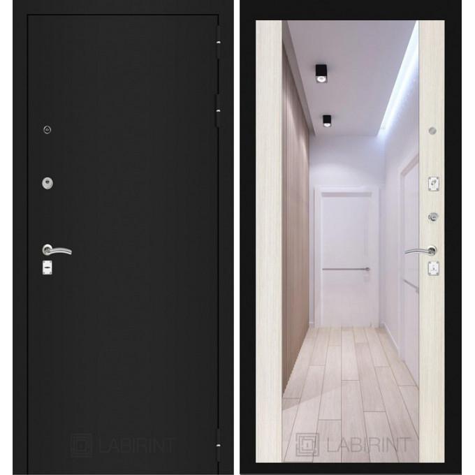 Дверь Лабиринт Classic Максимум (Шагрень черная / Сандал белый)