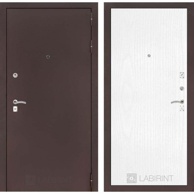 Дверь Лабиринт Classic 07 (Антик медный / Белое дерево)