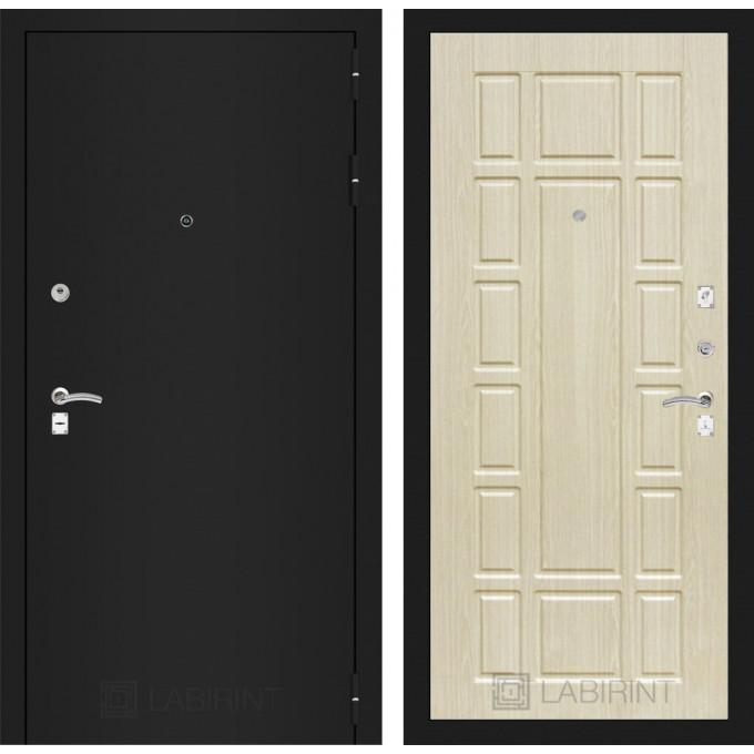 Дверь Лабиринт Classic 12 (Шагрень черная / Беленый дуб)