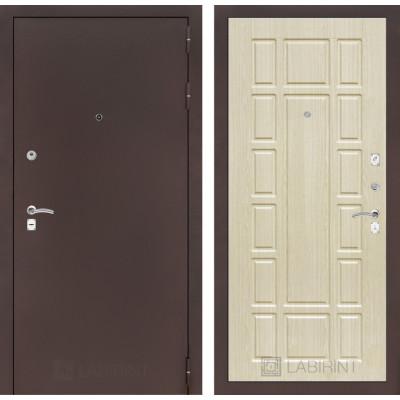Дверь Лабиринт Classic 12 (Антик медный / Беленый дуб)